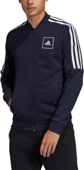 adidas 3 Stripes Tape Trainingsjacke Herren Schwarz