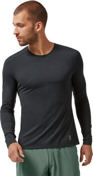 On Performance Laufshirt langarm Herren Schwarz
