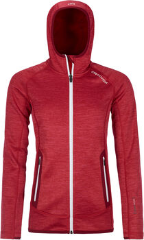 ORTOVOX Fleece Space Dyed Hoody Damen Rot