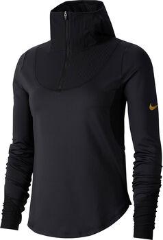 Nike Glam Top Laufshirt langarm Damen Schwarz