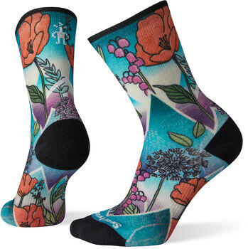 Smartwool PhD Pro Endurance Crew Print chaussettes de running Femmes Turquoise