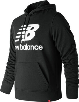 New Balance Essentials Stacked Logo Hoody Herren Schwarz