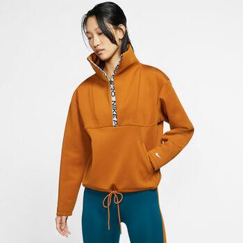 Nike PRO Fleece Hoody Damen Orange