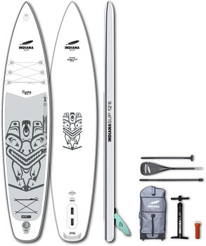 Indiana 12'6 Touring Pack Premium Stand Up Paddle Blanc
