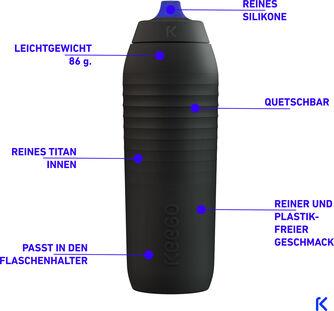 Elastische Titan Sportflasche