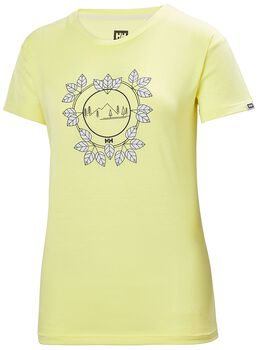Helly Hansen Skog Graphic T-Shirt Damen Gelb