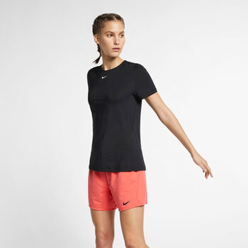 Nike PRO Mesh T-Shirt Damen Schwarz
