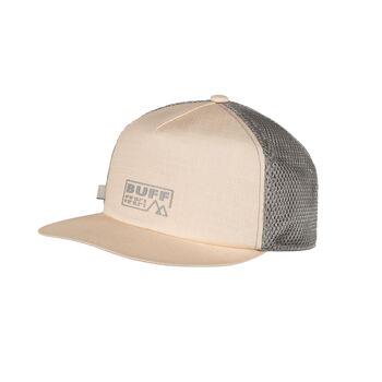 Buff Solid Trucker Cap Beige