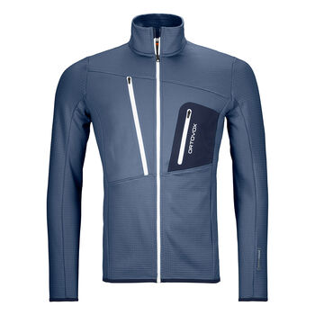 ORTOVOX FLEECE GRID Fleecejacke Herren Blau