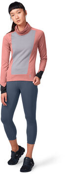 On Weather T-Zip Laufshirt langarm Damen Pink