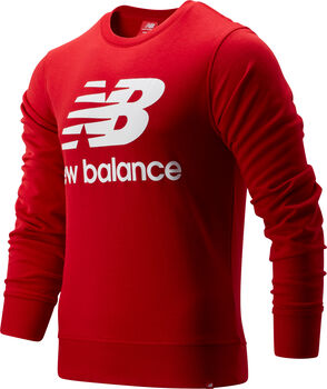 New Balance Essentials Stacked Logo Pullover Hommes Rouge