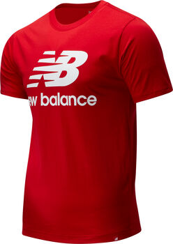 New Balance Essentials Stacked Logo T-Shirt Herren Rot