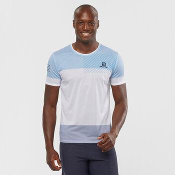 Salomon SENSE TEE T-Shirt de running Hommes Blanc
