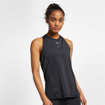 Nike PRO Mesh tanktop Femmes Noir
