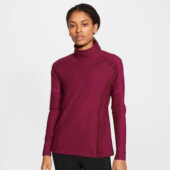 Nike Pro Hyper Warm Trainingsshirt langarm Damen Rot