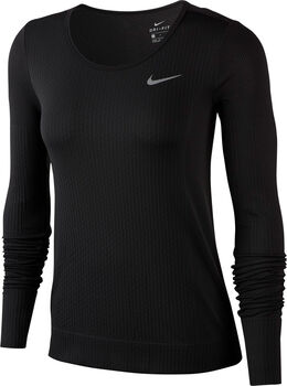 Nike Infinite Laufshirt langarm Damen Schwarz