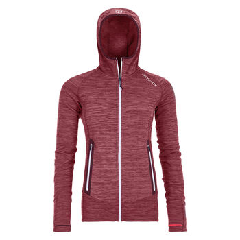 ORTOVOX Light Melange Fleecejacke Damen Rot