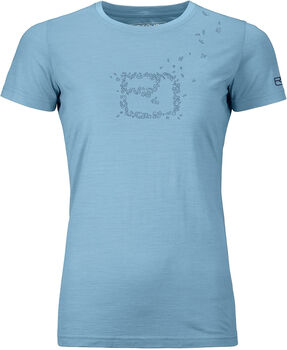 ORTOVOX 150 COOL LEAVES t-shirt Femmes Bleu