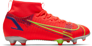 Nike JR Mercurial SUPERFLY 8 ACADEMY FG/MG chaussure de football Rouge
