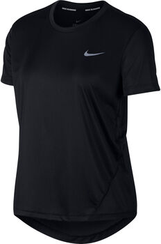 Nike Miler Top Laufshirt kurzarm Damen Schwarz