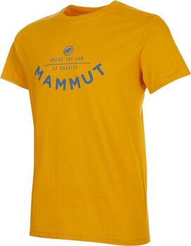MAMMUT Seile T-Shirt Herren Gold