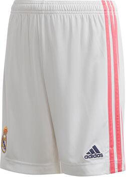 adidas Real Madrid 20/21 short domicile Garçons Blanc