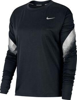 Nike Laufshirt langarm Damen Schwarz