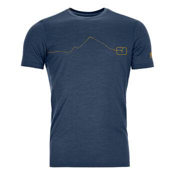 ORTOVOX 120 Tec Moutain T-Shirt Herren Blau