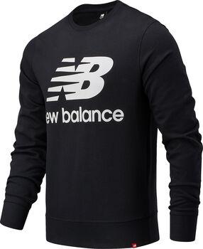 New Balance Essentials Stacked Logo Crew Pullover Hommes Noir