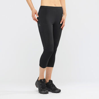 Salomon Support Tights Damen Schwarz
