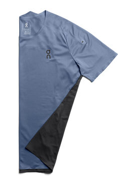 On Performance Laufshirt kurzarm Herren Blau