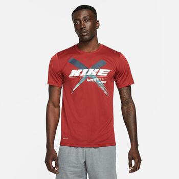 Nike Dri-Fit Graphic haut d'entraînement Hommes Rouge