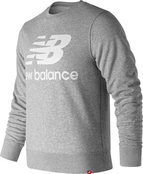 New Balance Essentials Stacked Logo Pullover Herren Grau