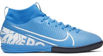 Nike JR SUPERFLY 7 ACADEMY IC Fussballschuh Indoor Blau