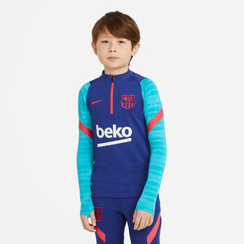 Nike FC Barcelona Strike Fussballshirt langarm Blau