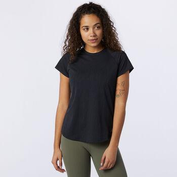 New Balance Q Speed T-Shirt Damen Schwarz