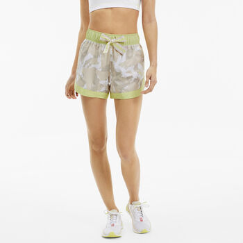 Puma The First Mile Woven Fitnessshorts Damen Gelb