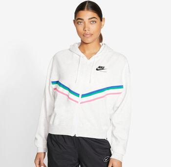 Nike Sportswear Heritage Fleecejacke Damen Grau