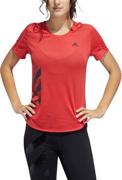 adidas Performance RUN IT 3 Stripes Laufshirt Damen Rot