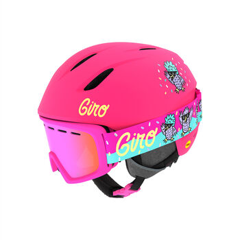 Giro Launch Combo Casque de ski + lunettes de ski Set Rose
