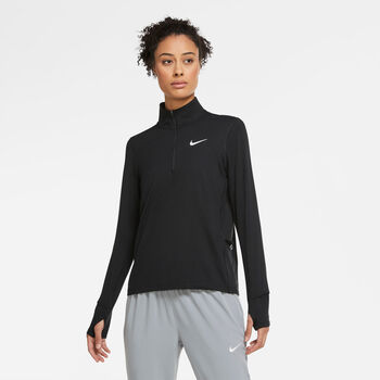 Nike Element Half Zip Femmes Noir