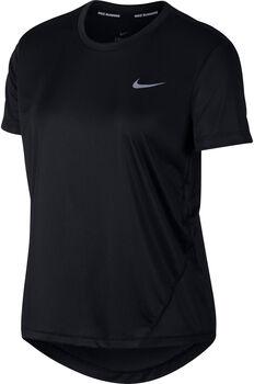 Nike Miler Top haut de running à manches courtes Femmes Noir