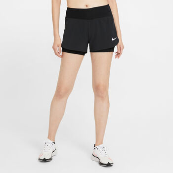 Nike Eclipse 2 in 1 Laufshorts Damen Schwarz