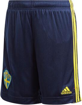 adidas Sweden Home Replica short de football Garçons Bleu