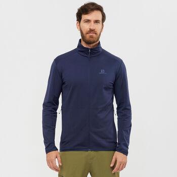 Salomon Outrack Full Zip sweat-shirt Hommes Gris