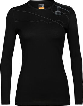 Icebreaker 200 Oasis chemise fonctionnelle à manches longues Skyway Lift Femmes Noir