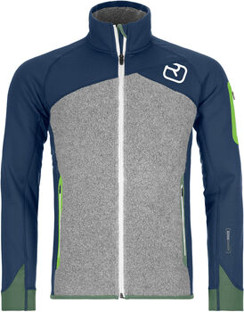 ORTOVOX Fleece Plus Fleecejacke Herren Blau