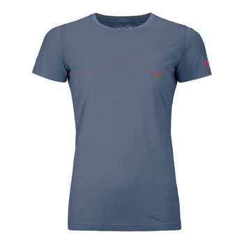 ORTOVOX 120 Tec Moutain T-Shirt Damen Blau
