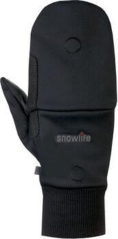 Snowlife WS Soft Shell Mitten Cap Mehrzweckhandschuh Schwarz