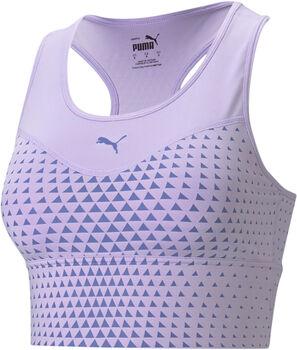 Puma Mid Graphic Long Line Sport BH Damen Violett